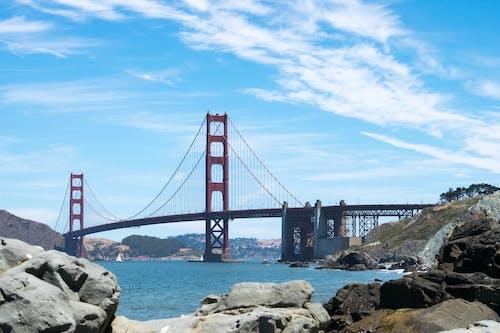 ゴールデンゲートブリッジ, サンフランシスコ, セーリング, ビーチの無料の写真素材