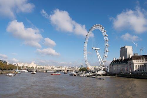 görülecek yer, İngiltere, Kent, london eye içeren Ücretsiz stok fotoğraf