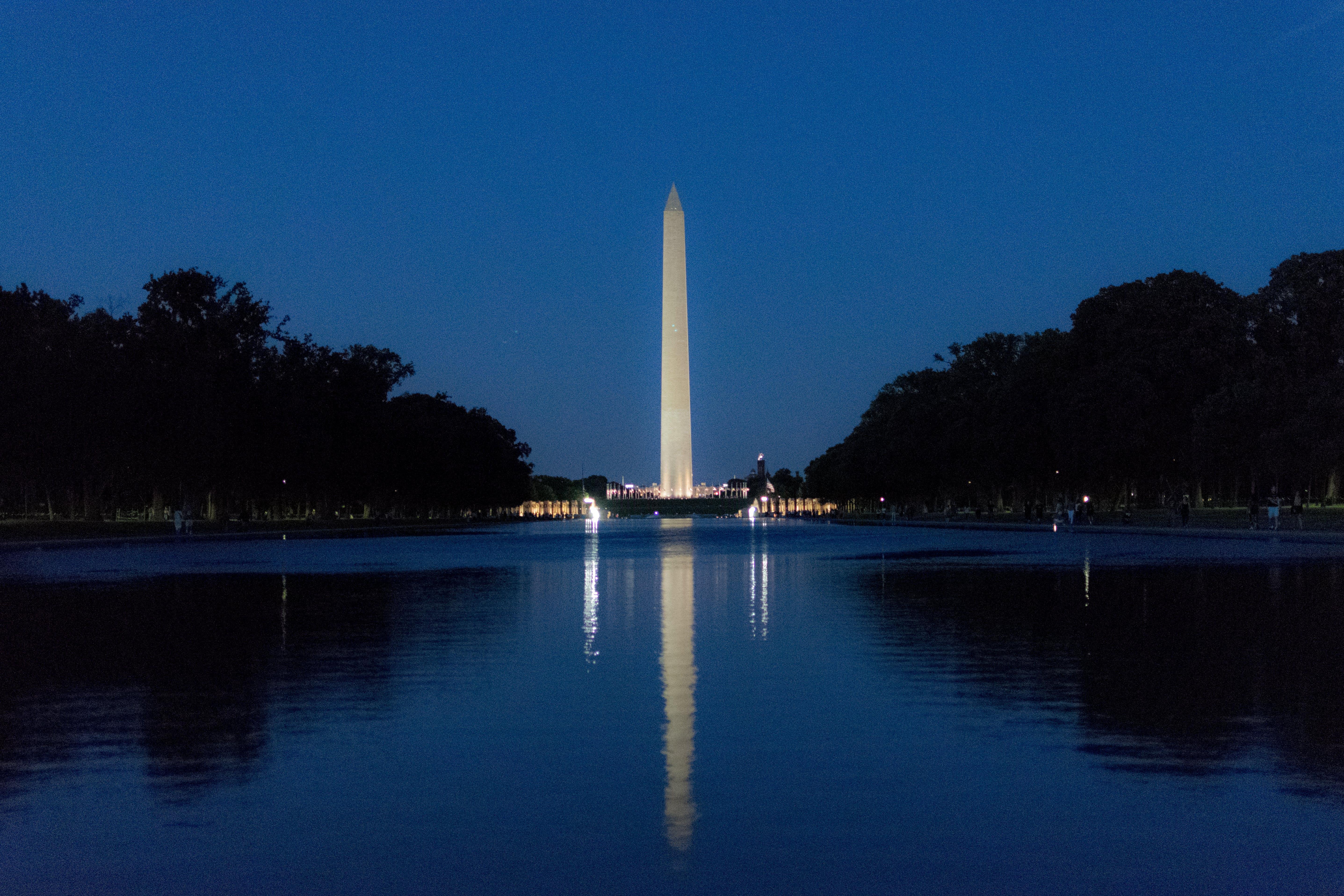 Free stock photo of america, landmark, monument, reflection