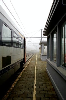 Free stock photo of train station, train schedule, bad weather
