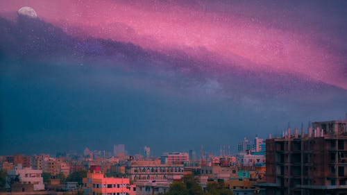 城市的燈光, 審美觀, 日落, 星空 的 免費圖庫相片