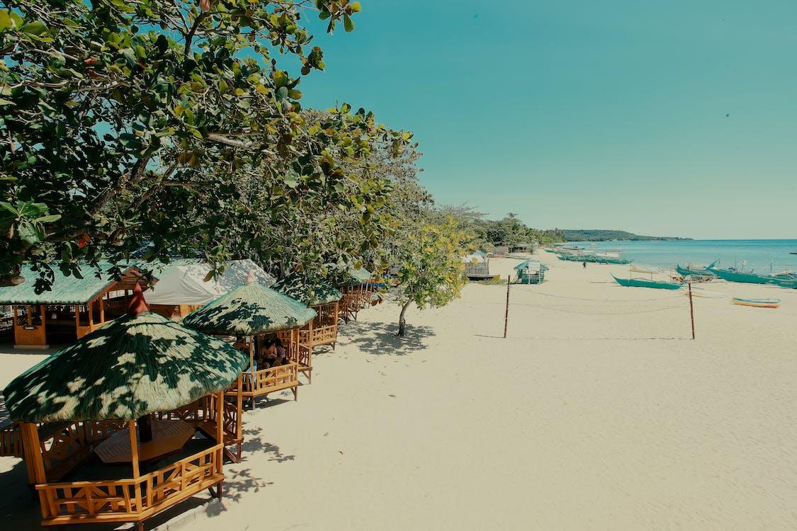 белый песок, береговая линия, песчаный пляж
