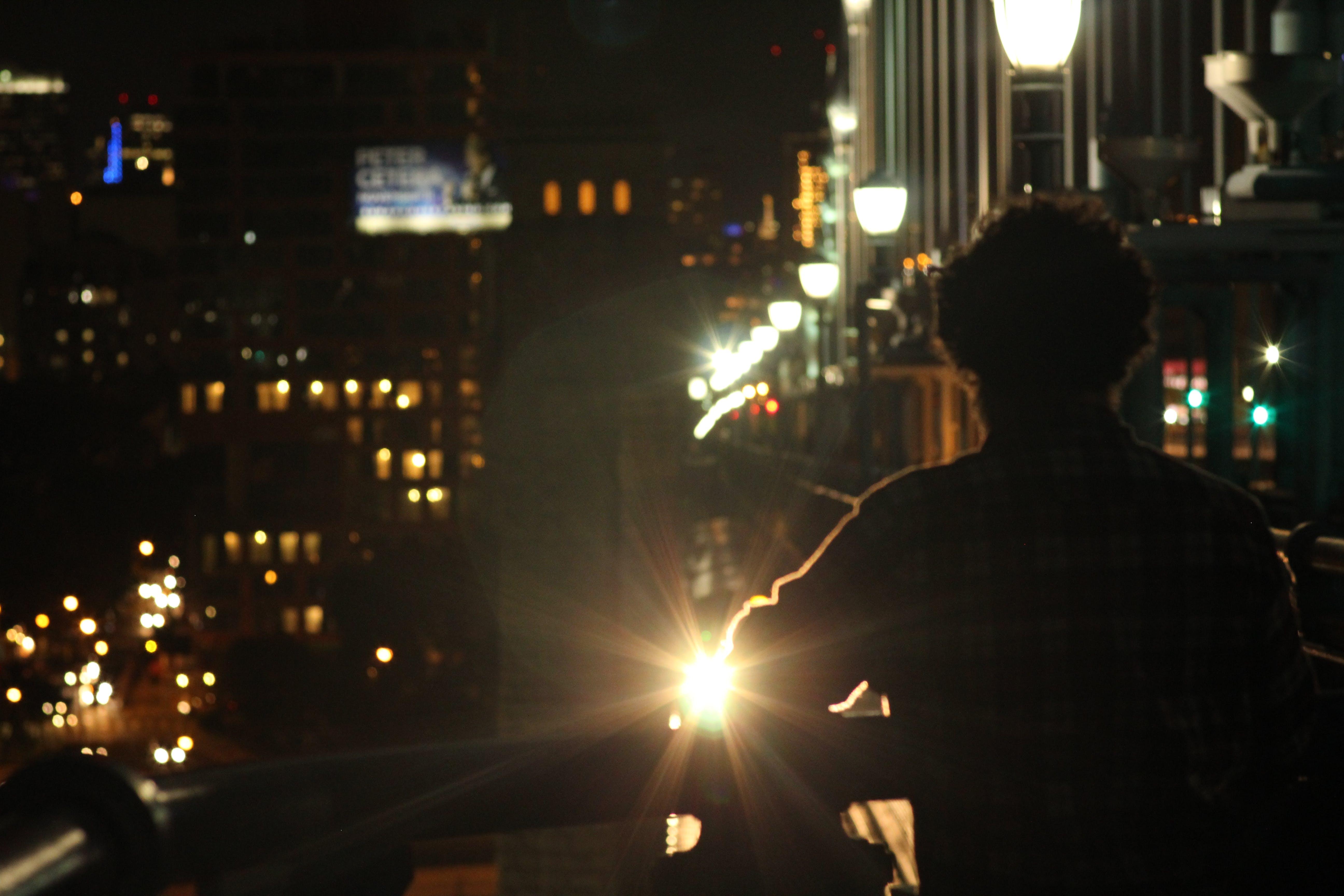 Free stock photo of bridge, city, lights, night