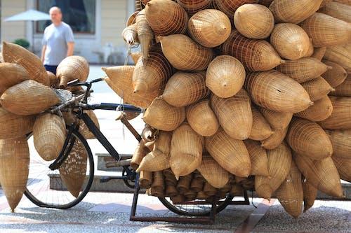 Foto profissional grátis de cesta de vime, cestas, close, de madeira