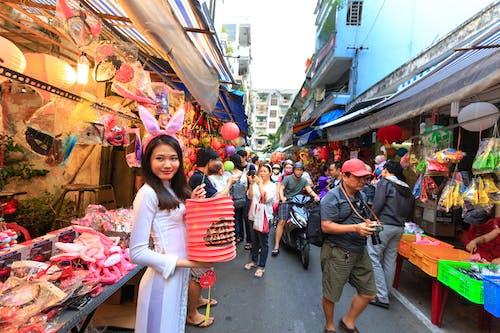 Woman Holding Red Lantern