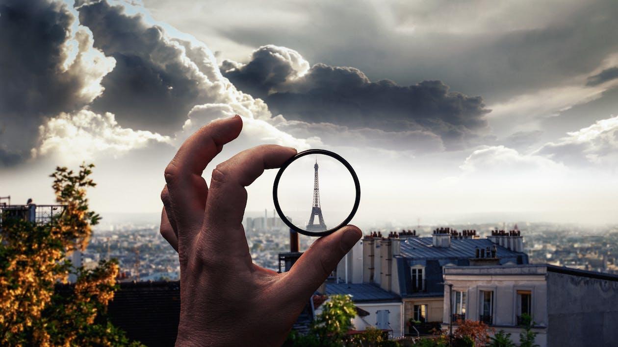 城市, 天空, 客觀的
