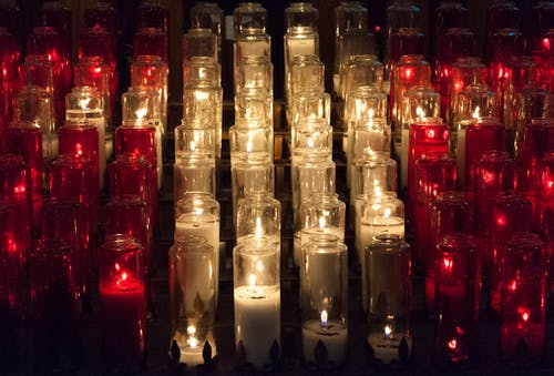 Free stock photo of candlelight, candles, church