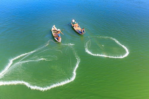 People Riding on Boat