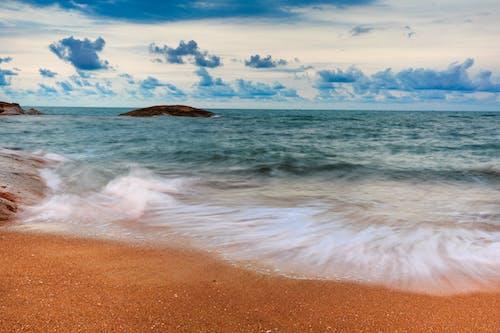 akşam, akşam karanlığı, dalga, deniz içeren Ücretsiz stok fotoğraf
