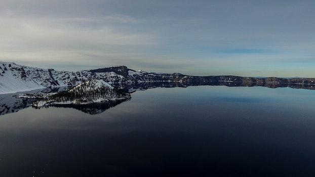 Free stock photo of cold, snow, sea, dawn