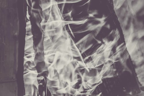 Grayscale Photography of Fire