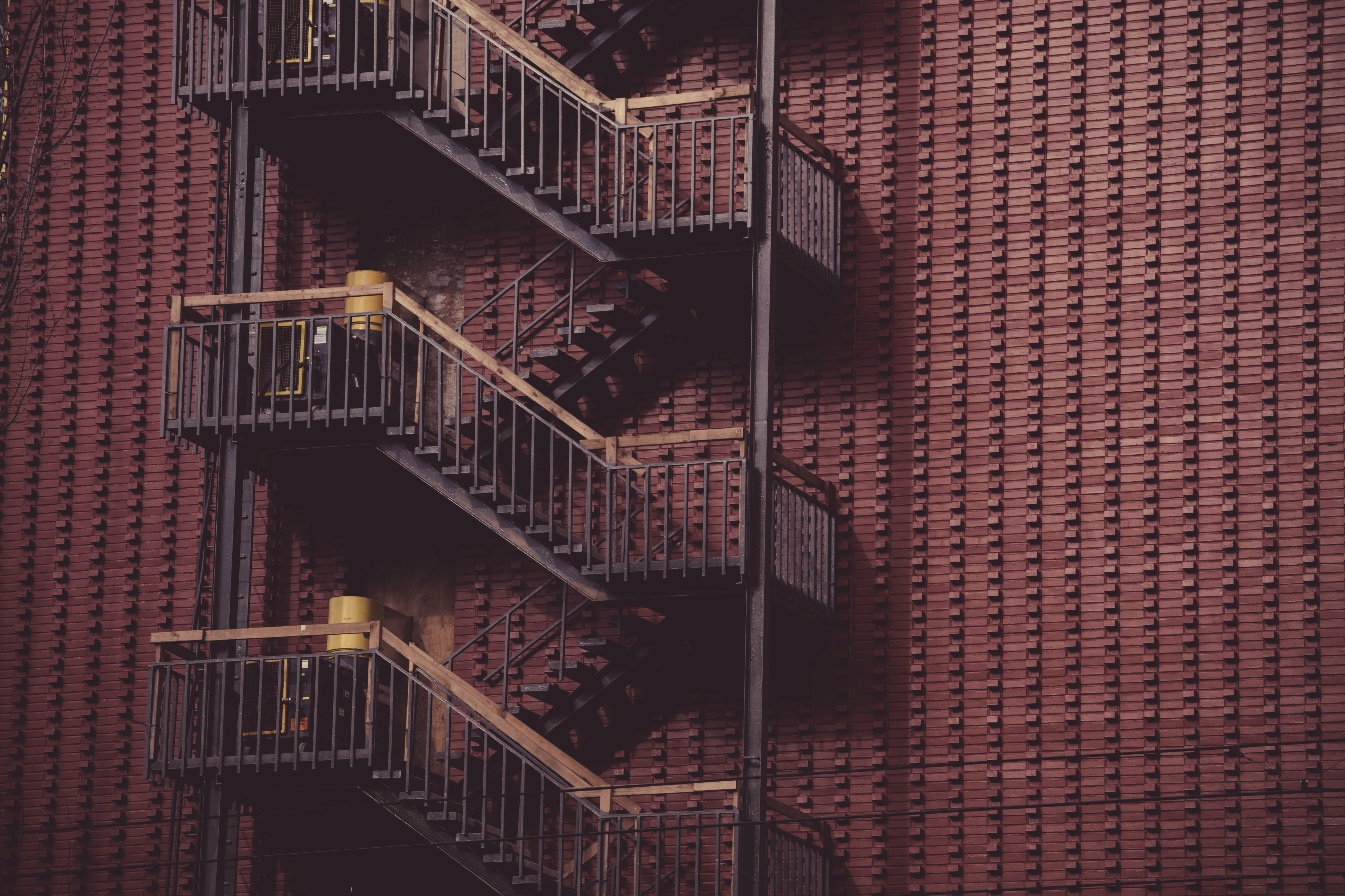 Free stock photo of building, architecture, ladder, fire exit ladders
