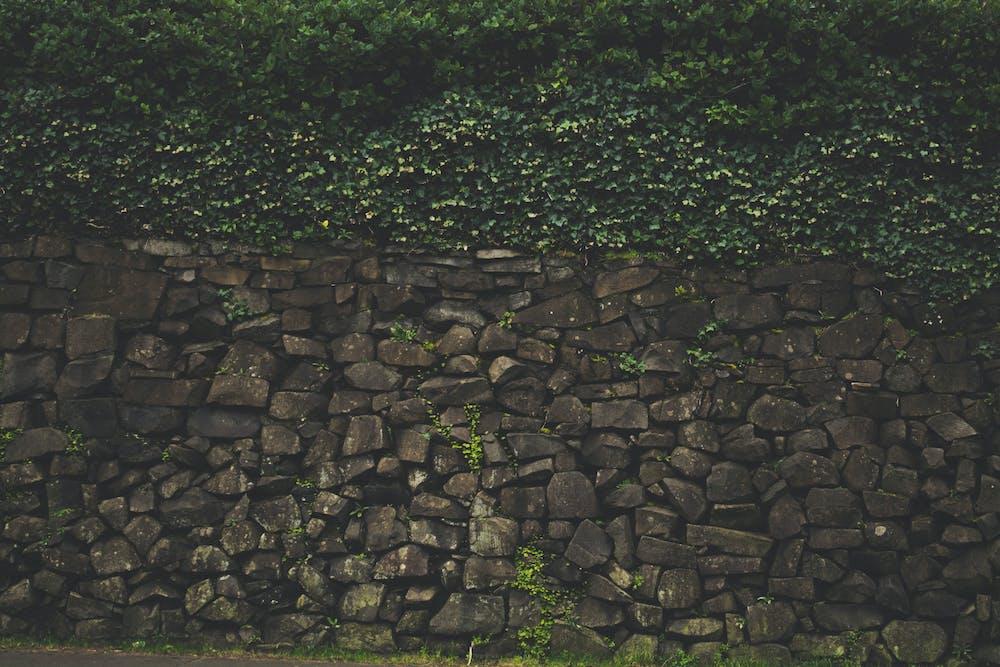 Клумбы из плоских камней фото