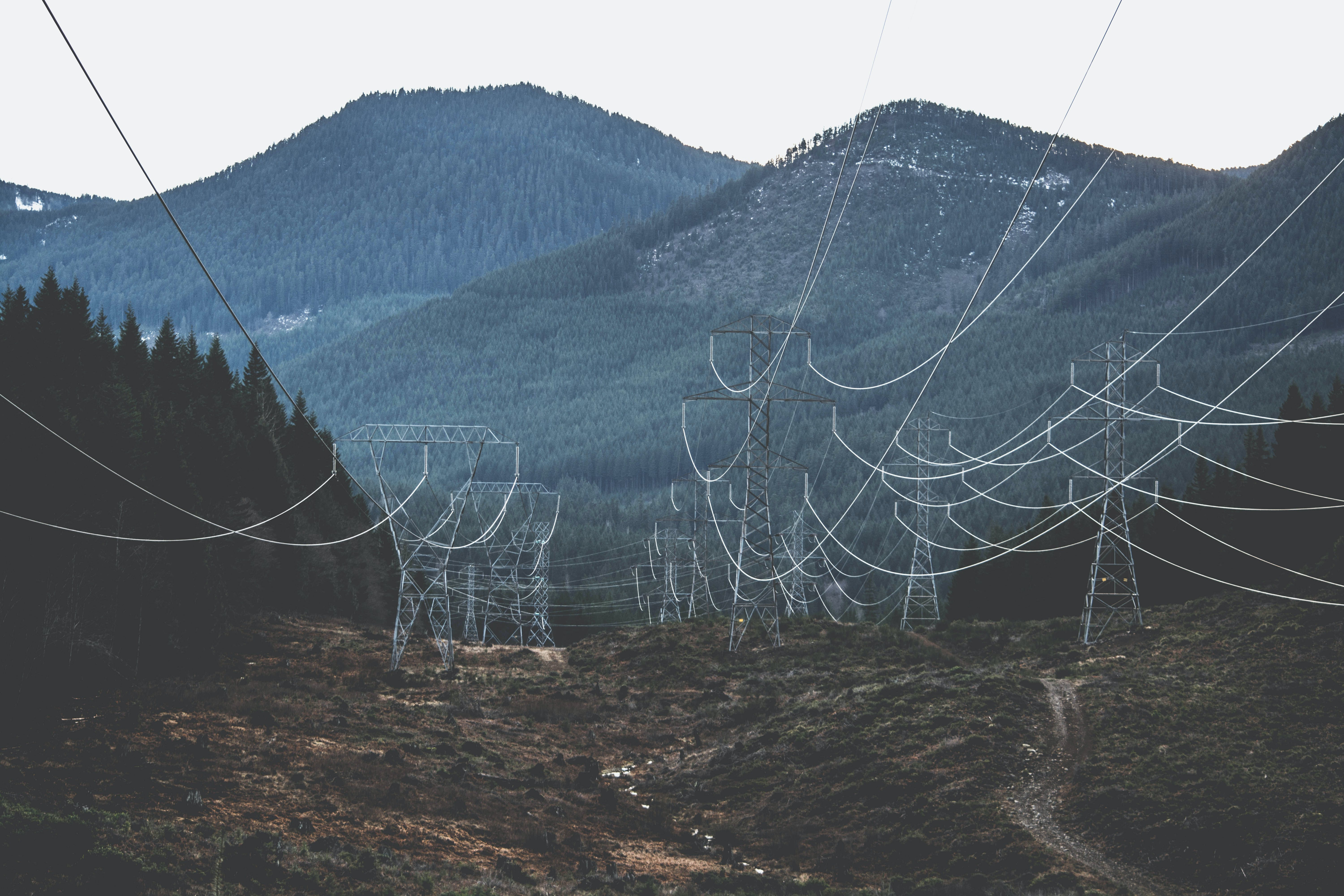 Aerial View Photography of Cable Wires