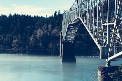 açık hava, asma köprü, çelik, dış mekan içeren Ücretsiz stok fotoğraf