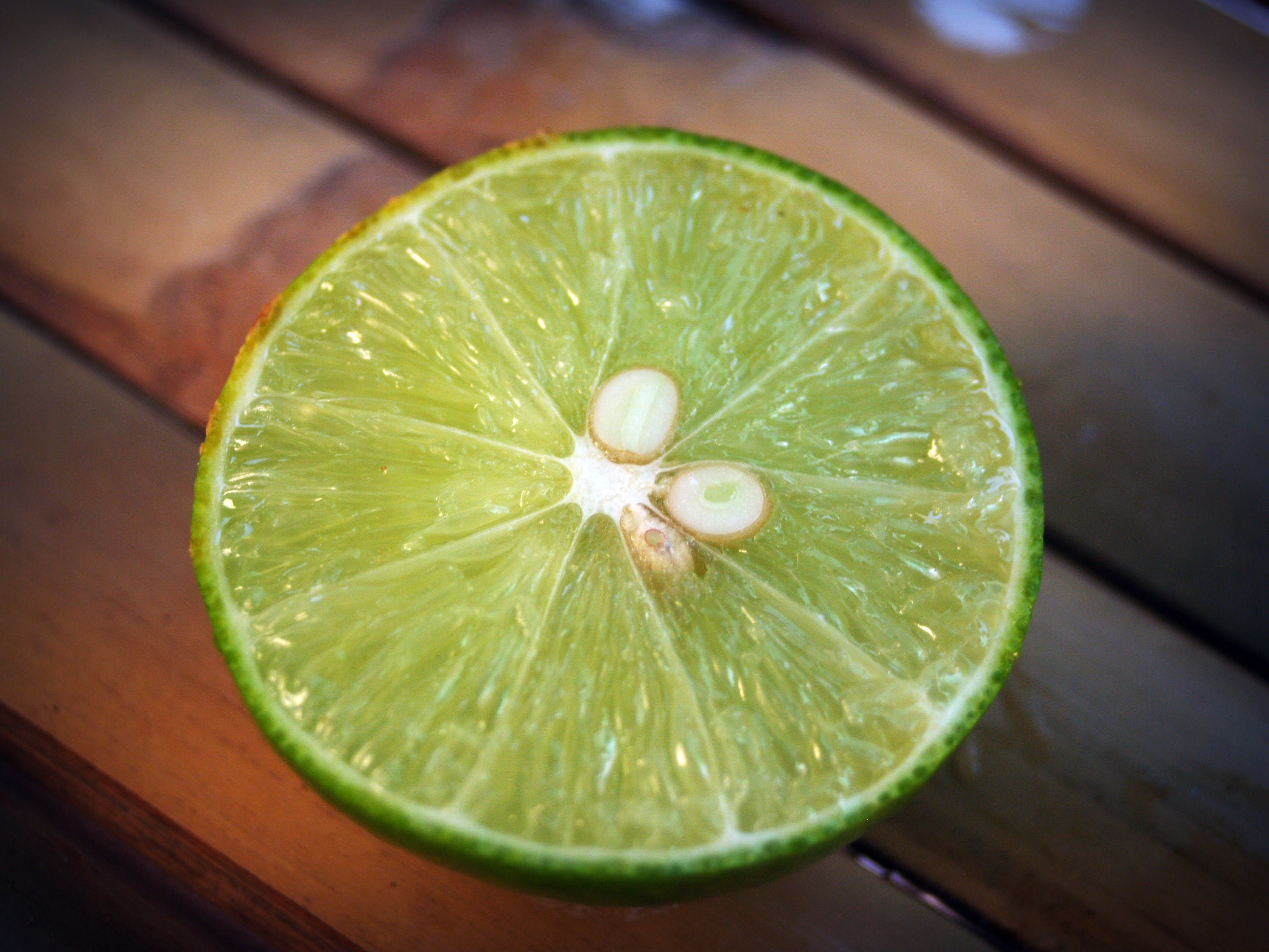 Slice of Lime Fruit