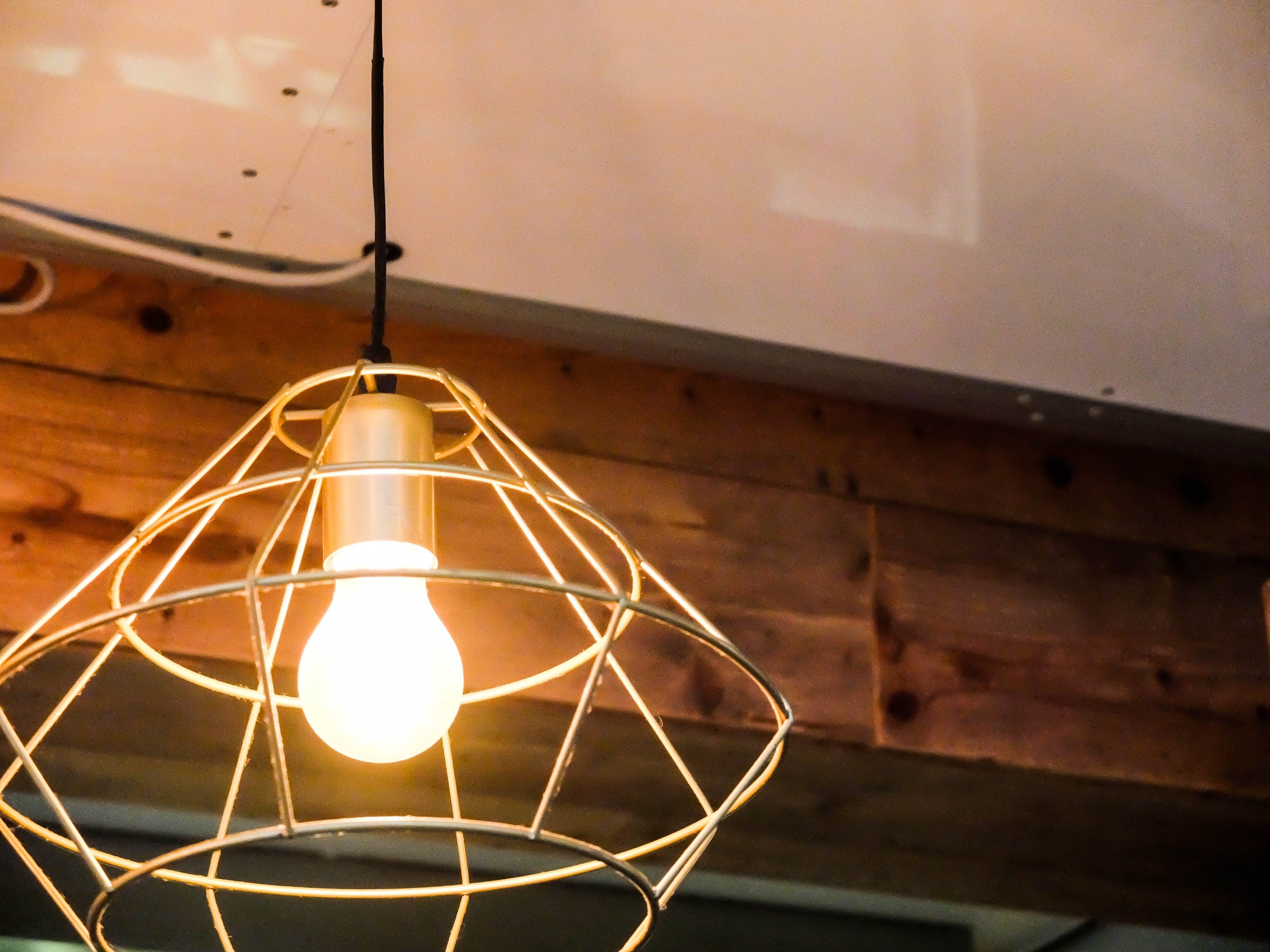 Free stock photo of geometric, lamp, light, minimal