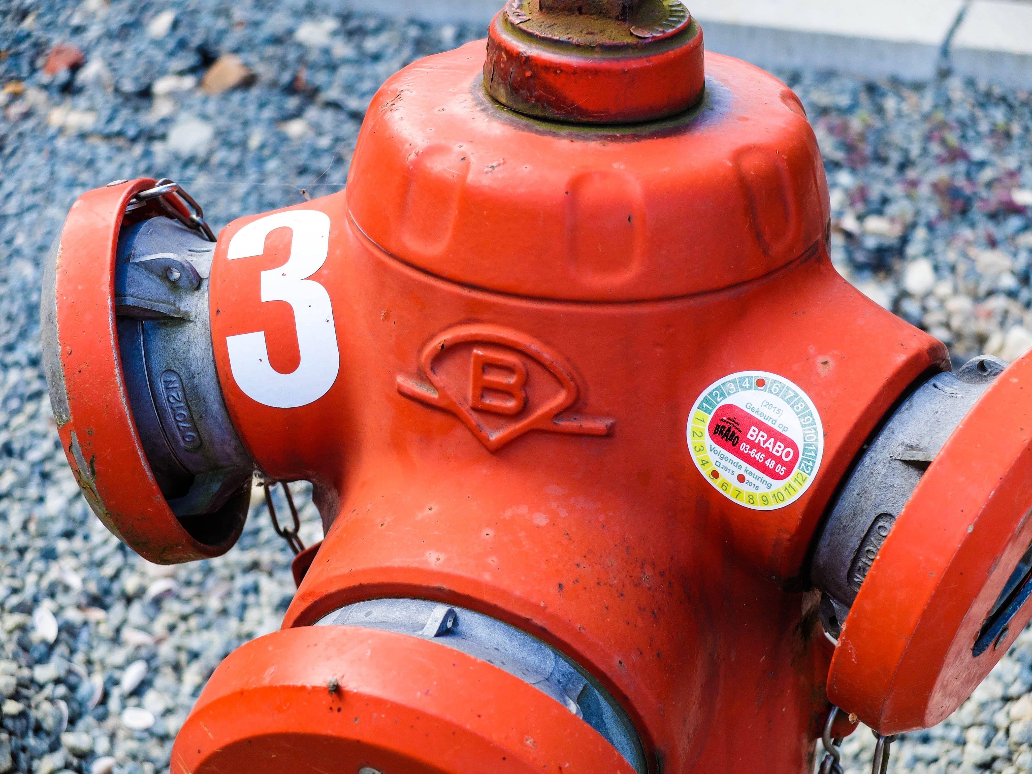 z bezpieczeństwo, ciśnienie, czerwony, hydrant