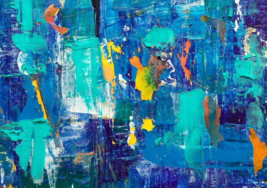 abstrakt, abstrakt maleri, akryl