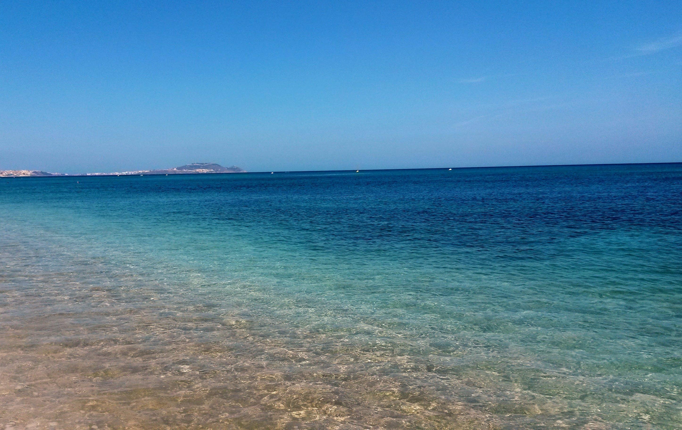 Blue Seashore Beach at Daylight Photography