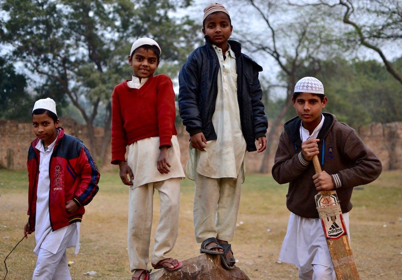 Kostenloses Stock Foto zu indien, kinder, kricket