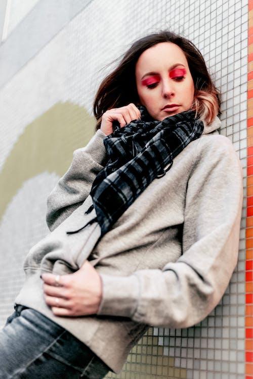可愛, 圍巾, 女人, 擺姿勢 的 免费素材照片