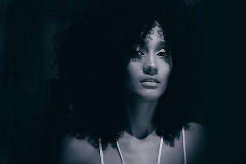 Foto d'estoc gratuïta de adult, afro, atractiu, blanc i negre