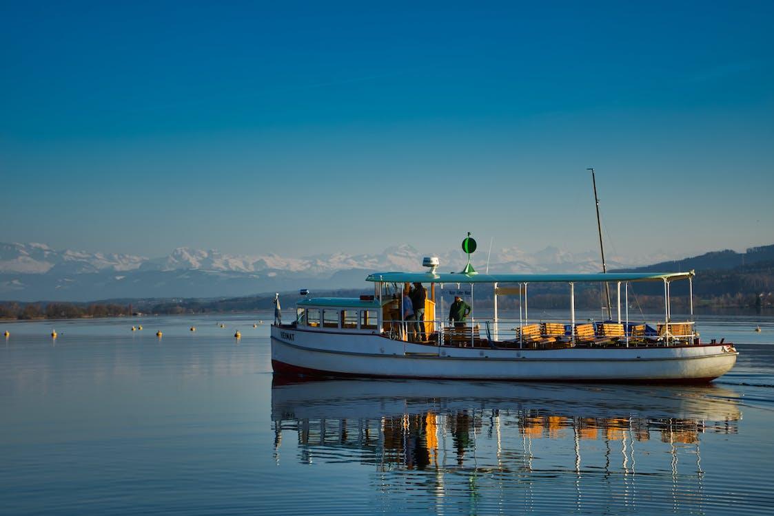 aigua, badia, barca