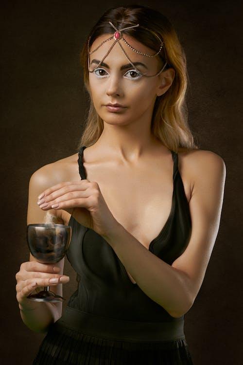 atraktivní, blond vlasy, dáma