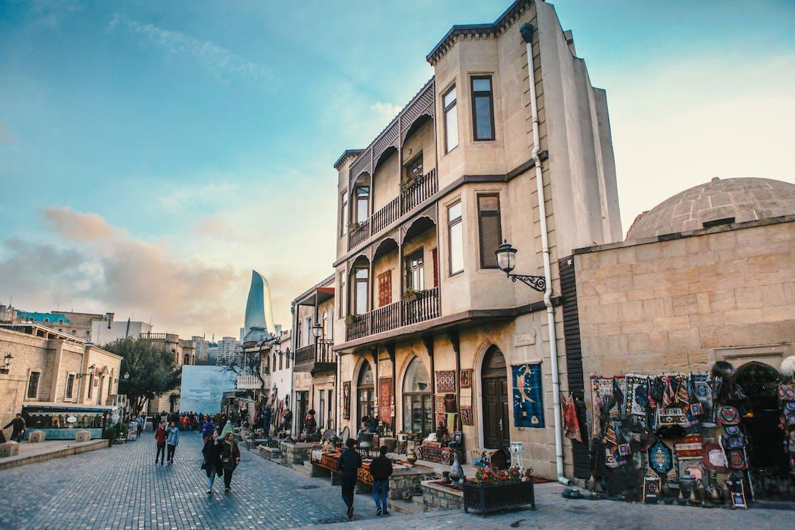arkitektur, brostensgade, butikker