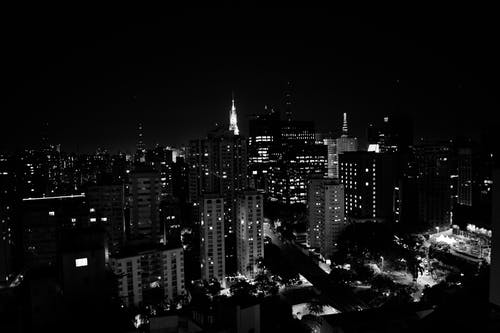 High Rise Buildings At Nighttime