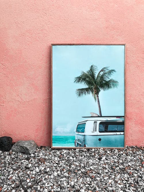 Van Beside Palm Tree Painting