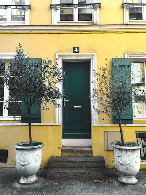 Gratis stockfoto met architectueel design, architectuur, bloempotten, buiten