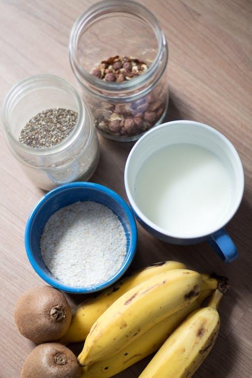 Gratis lagerfoto af banan, havre, ingrediens, Kiwi