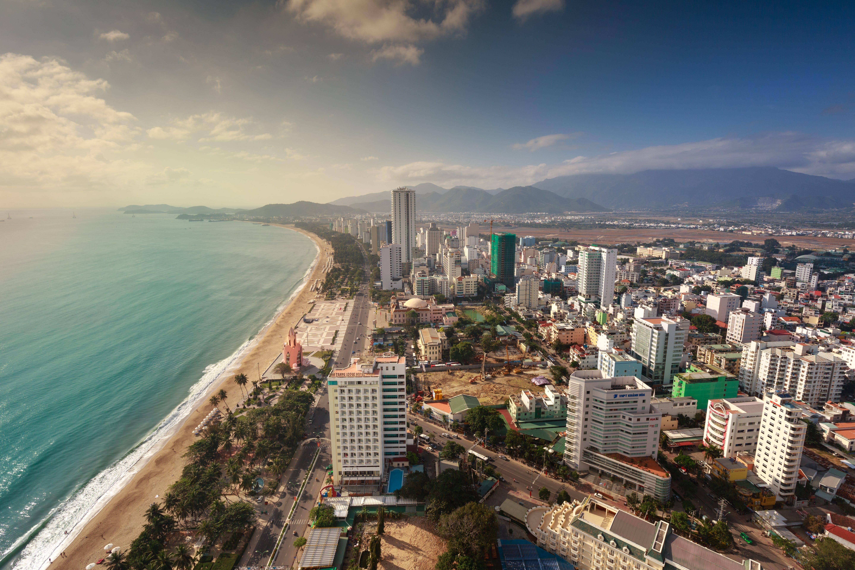 Bird's Eye View Of City Near Ocean