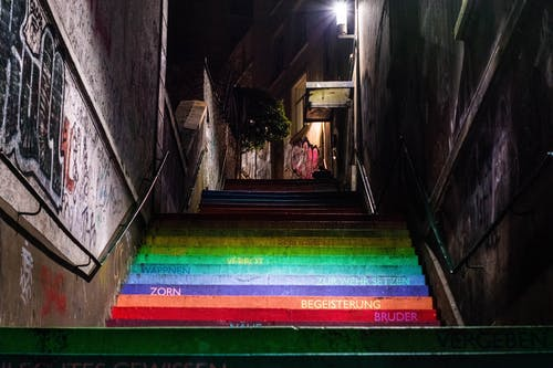 Concrete Stair With Colors