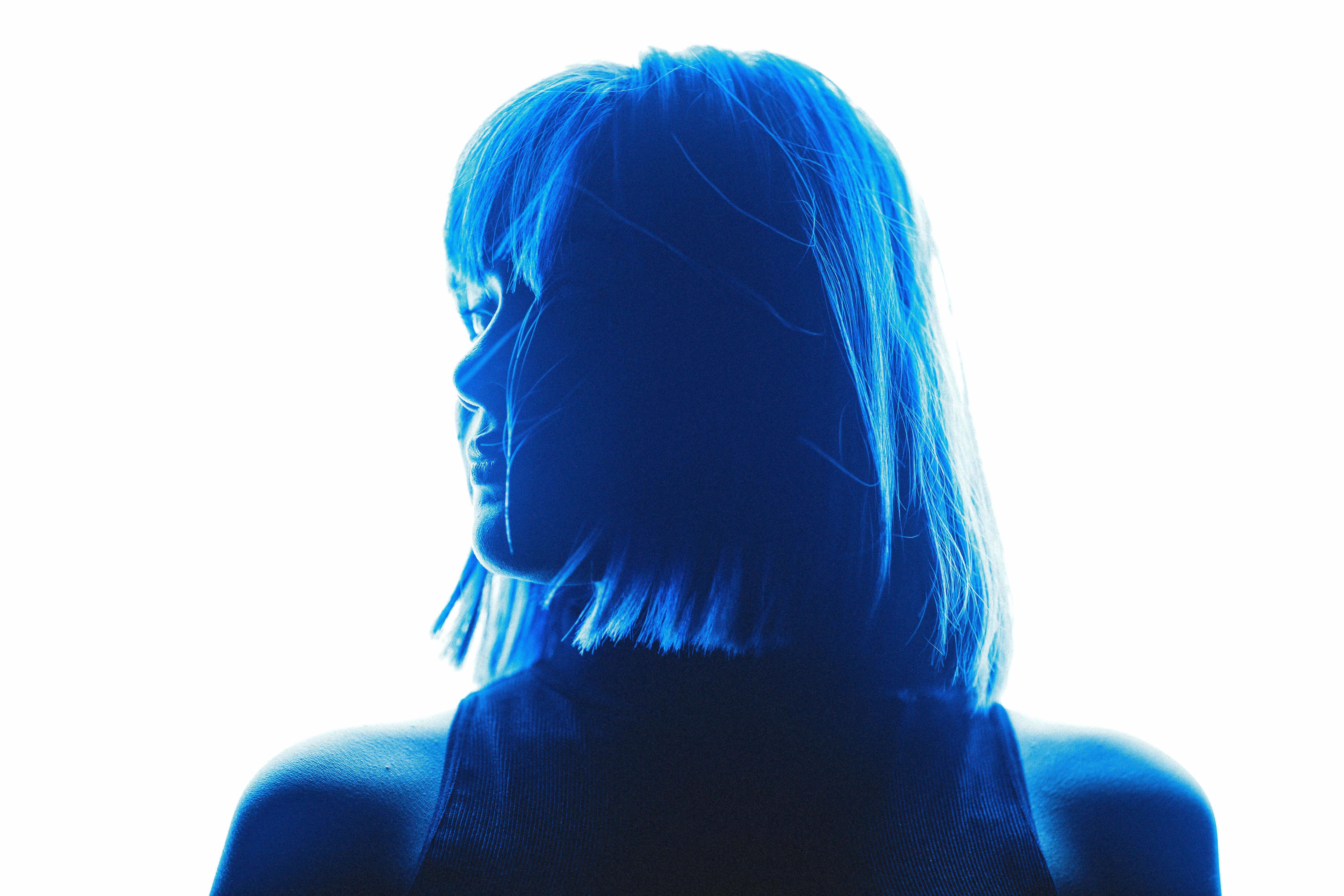 Silhouette Photography of Woman With Shoulder Length Hair