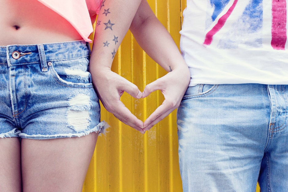 hands, heart, jeans