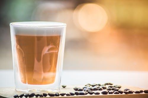Kostnadsfri bild av dricksglas, dryck, kaffe, kaffebönor