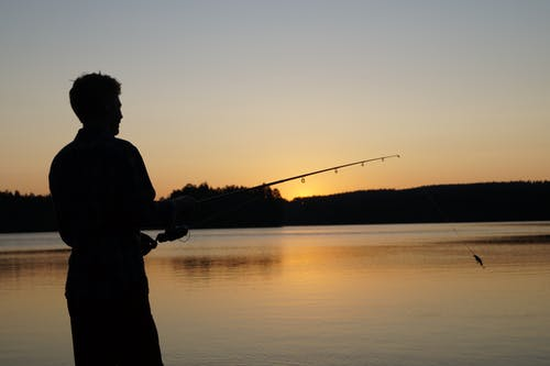 Kostnadsfri bild av fiske, solnedgång