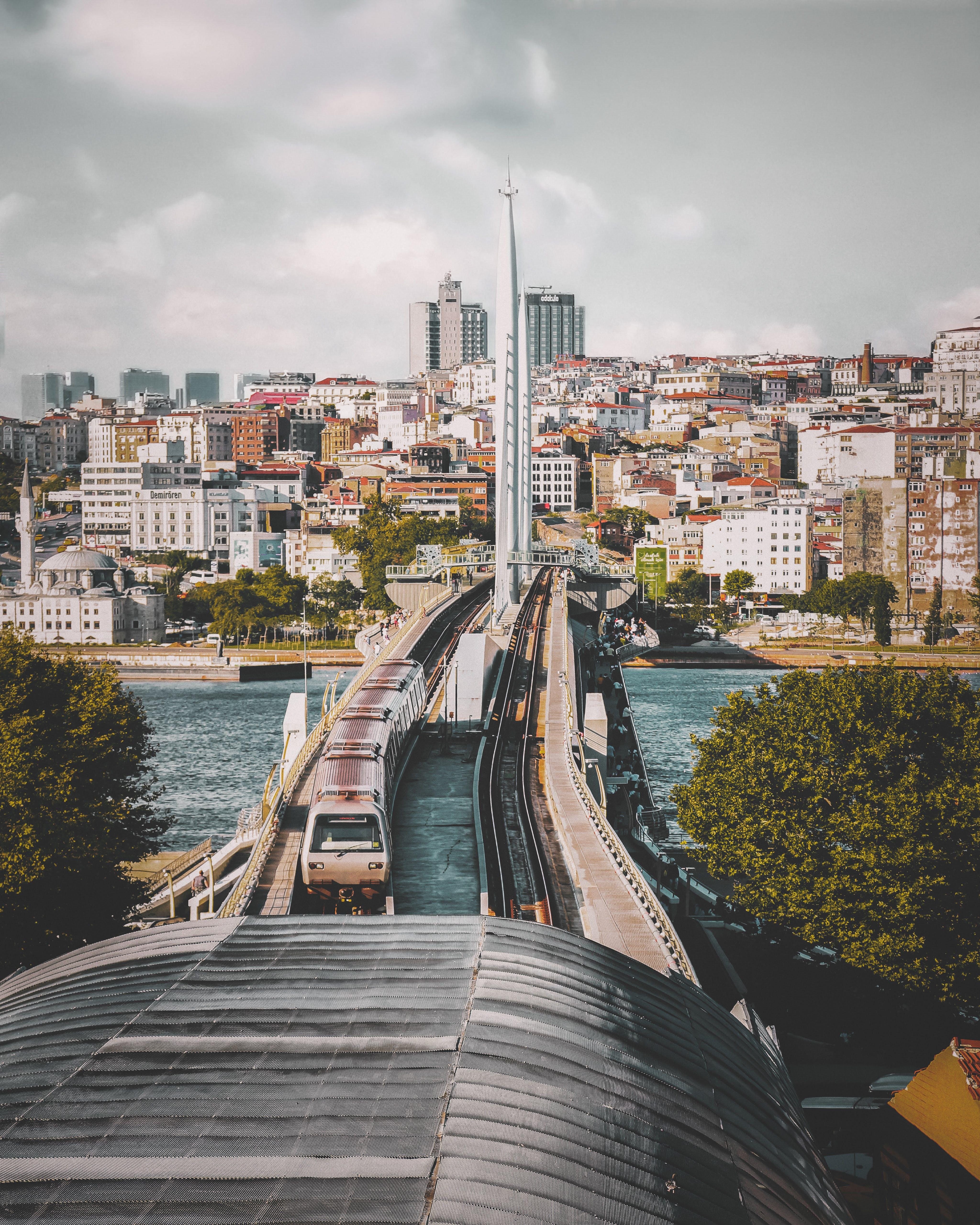 Train Bridge to City