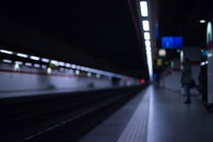 station, train station, blurred