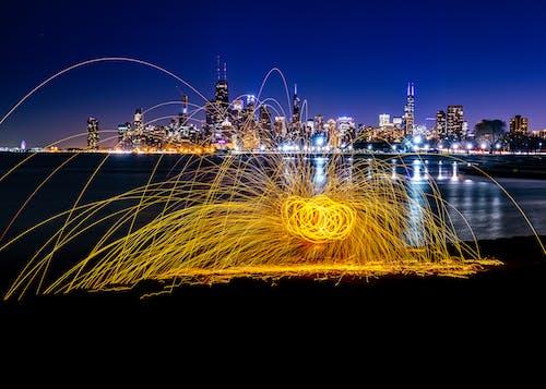 Бесплатное стоковое фото с горизонт, город, длинная экспозиция, креативный
