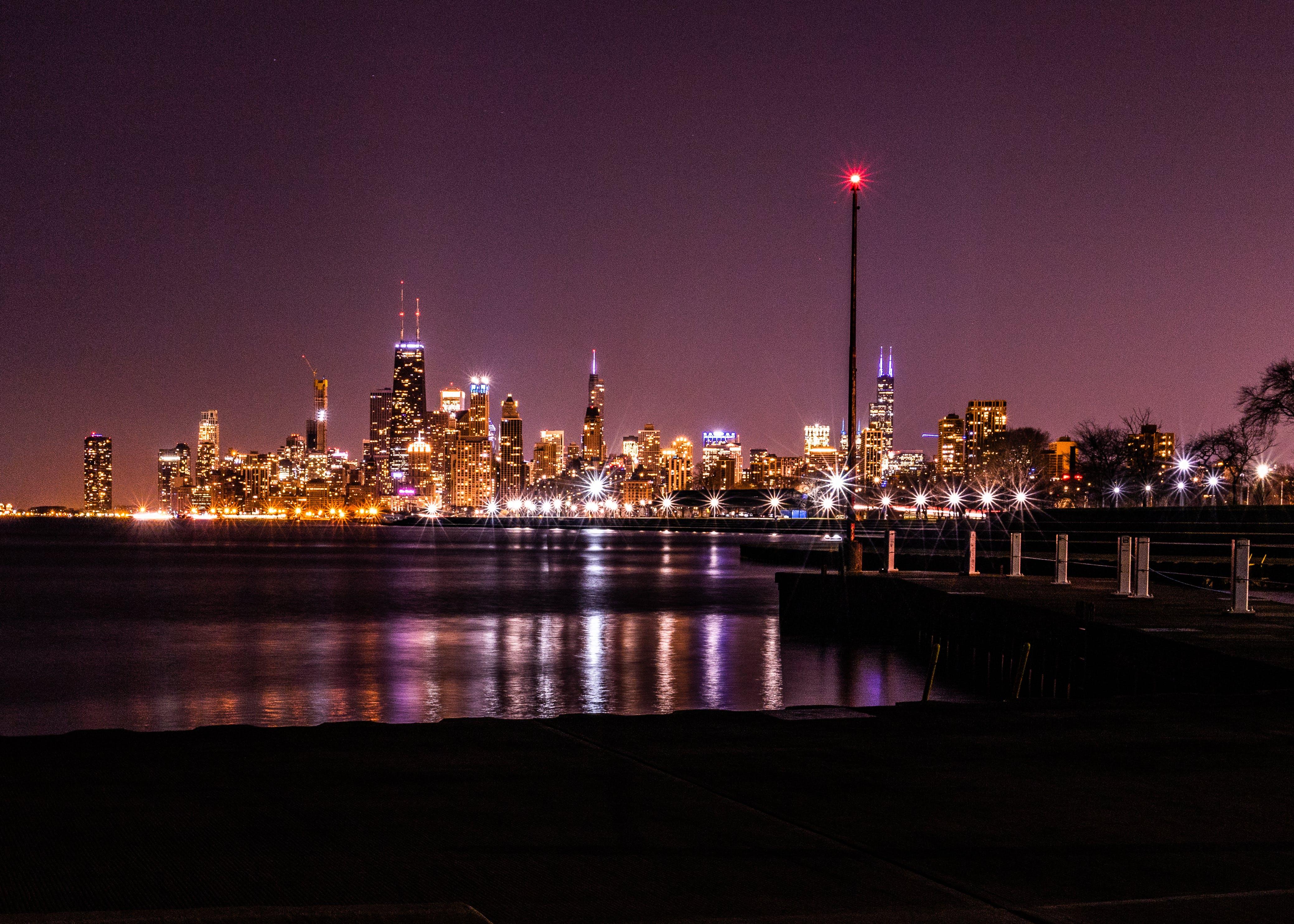 Gratis stockfoto met 's nachts, architectuur, avond, belicht
