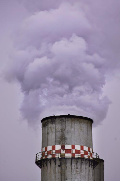 Factory Chimney Producing Smoke