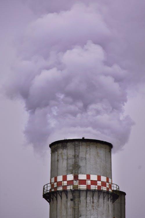 Factory Chimney Producing Smoke