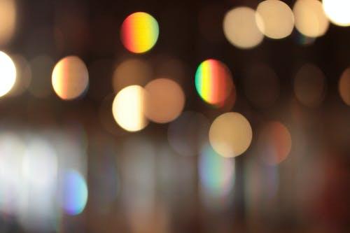 가벼운, 꼬마 전구, 무지개, 반짝반짝 빛나는의 무료 스톡 사진