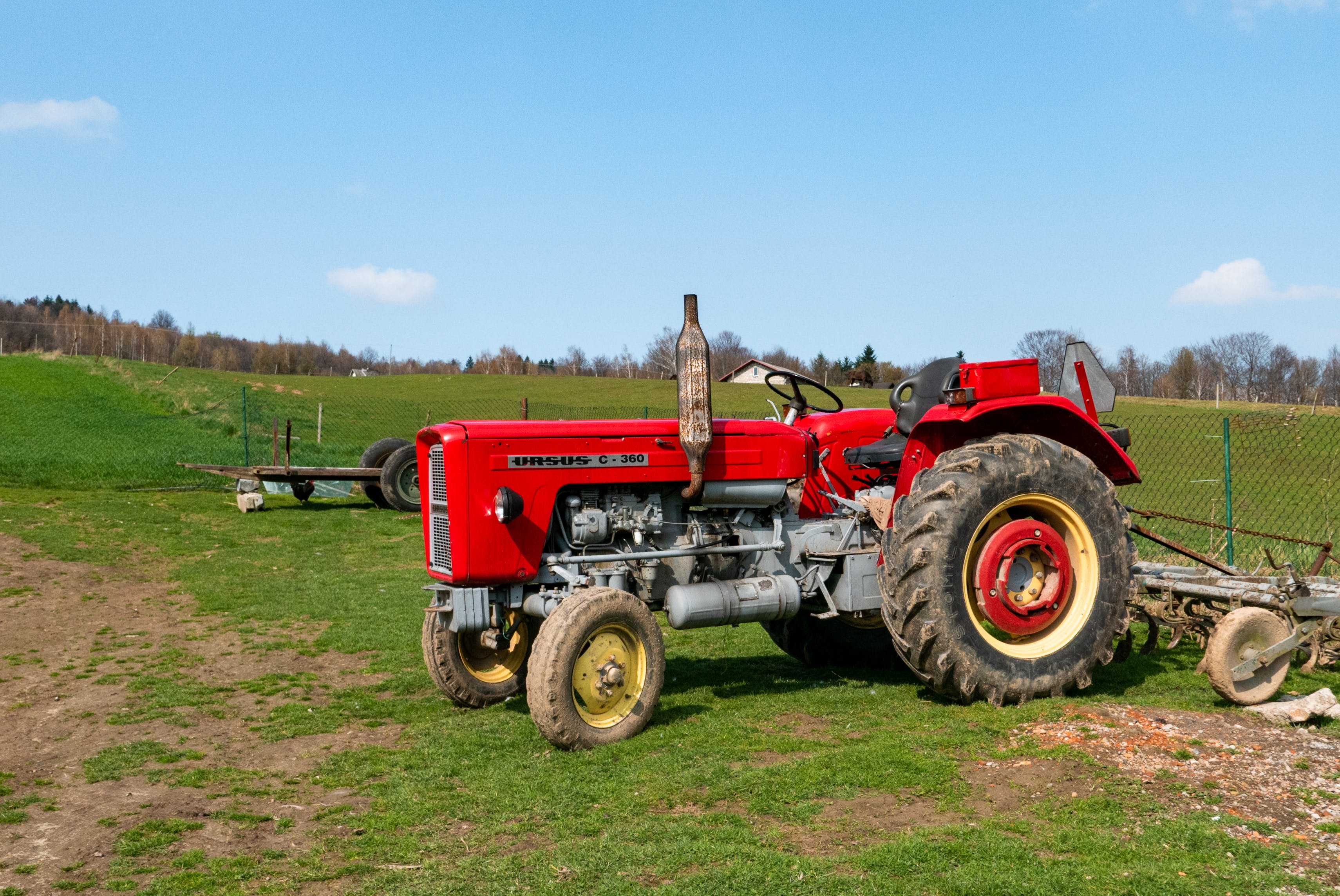 Free stock photo of big wheel, country, tractor, ursus