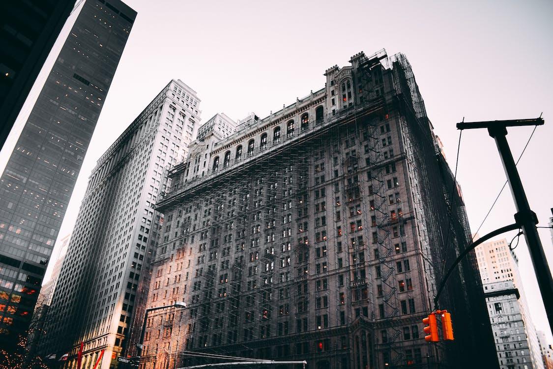 architettura, centro città, città