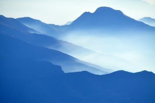 Free stock photo of aerial, alps, fog, foggy
